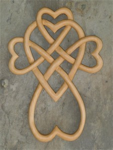 Celtic Heart Knot Cross